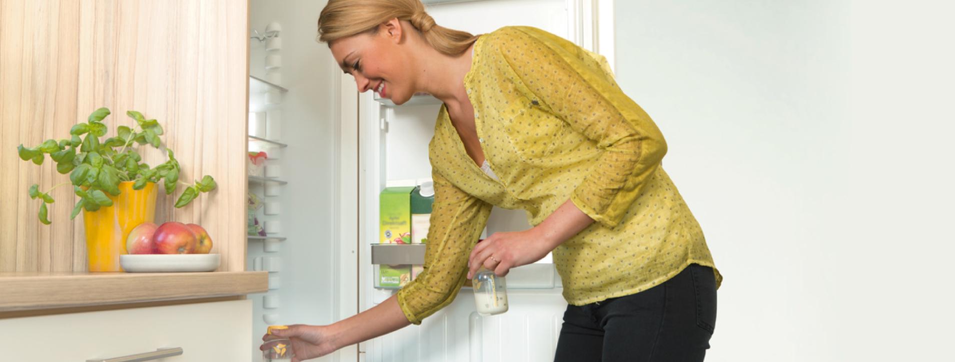 Conservación y descongelación de la leche materna